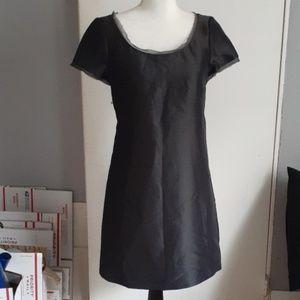 J.Crew Charcoal Gray Cotton & Silk Dress sz 2